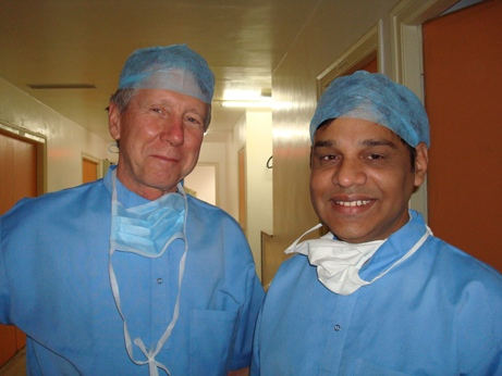Dr. T.Otis Paul and Dr Sudhir Singh at Global Hospital ,Aburoad